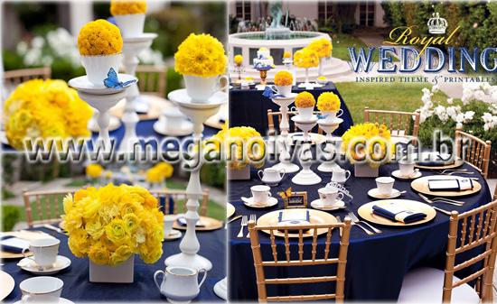 Clube do casamento azul e amarelo!