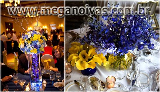 decoracao para casamento azul marinho e amarelo : decoracao para casamento azul marinho e amarelo:Abaixo mais um exemplo de uma requintada festa azul e amarelo e em