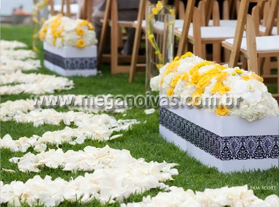 decoracao amarelo branco e preto:Matéria exclusiva Mega Noivas sendo proibida sua reprodução total