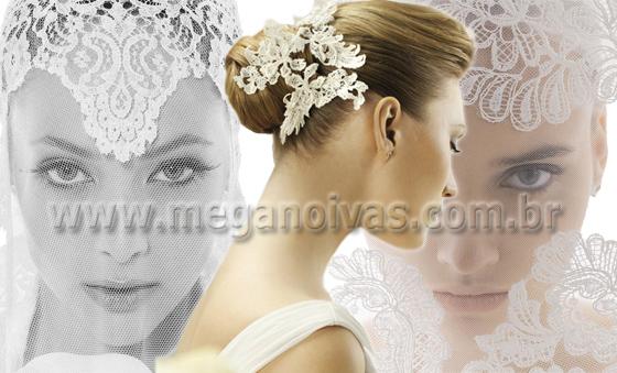 Penteado de noivas com renda