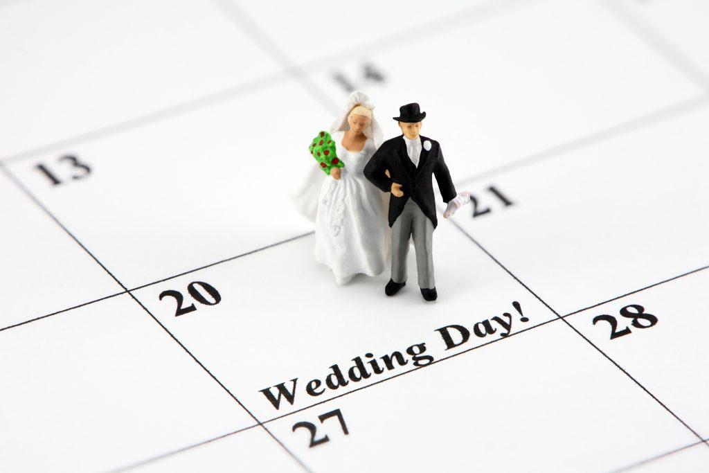 Calendário dos noivos