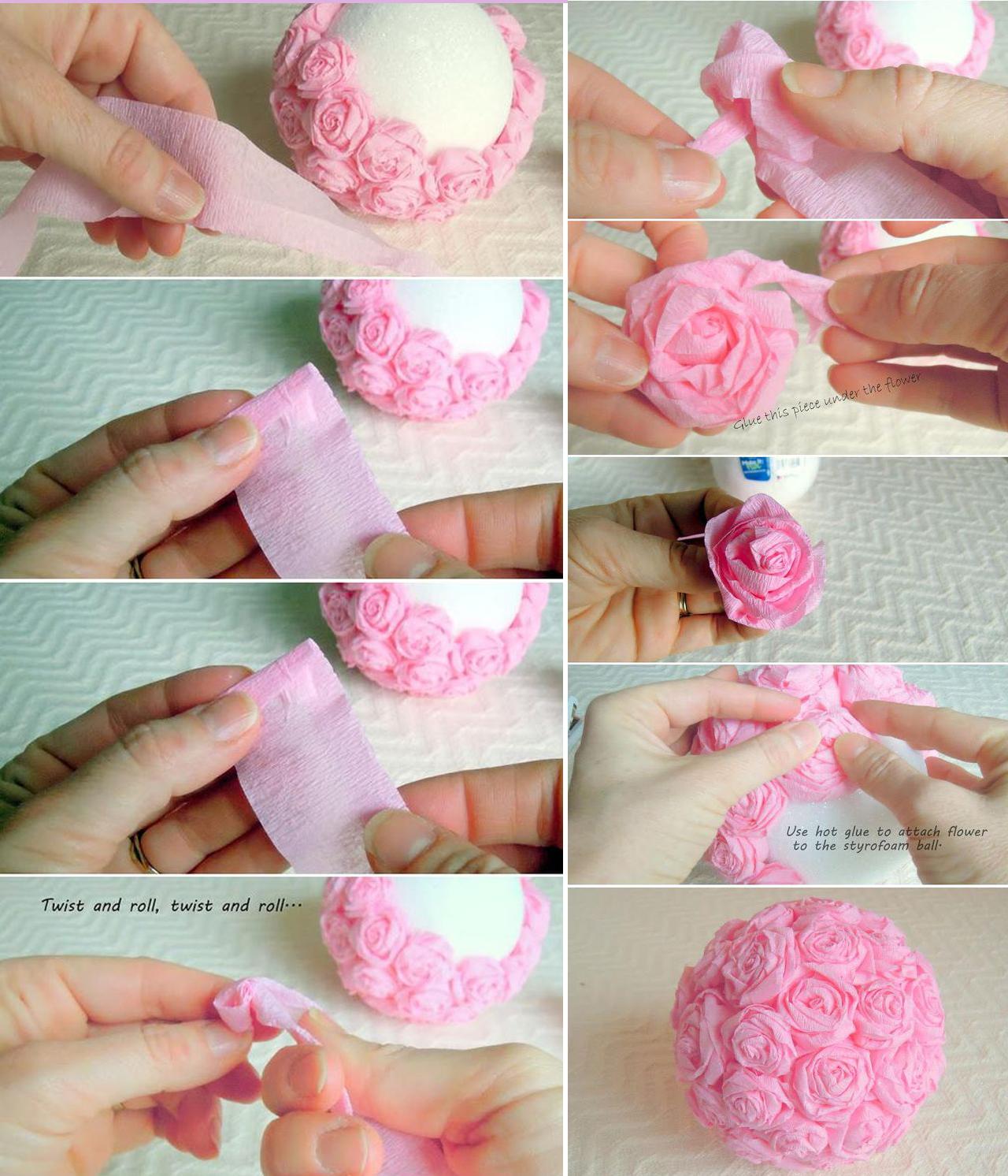 Bolas De Flores Para Decoração Mega Noivas